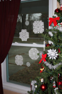 winter activity hole punch snowflakes