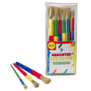 7 Assorted Paint Brushes - eBeanstalk