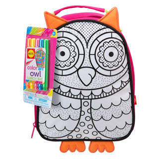 Color A Lunch Bag Owl - Alex - eBeanstalk
