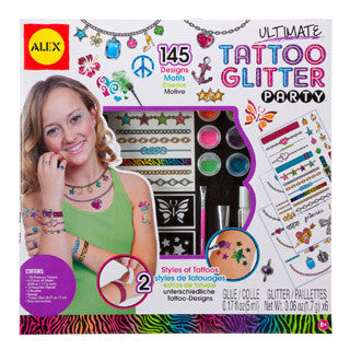 Ultimate Tattoo Glitter Party Craft Kit - Alex - eBeanstalk