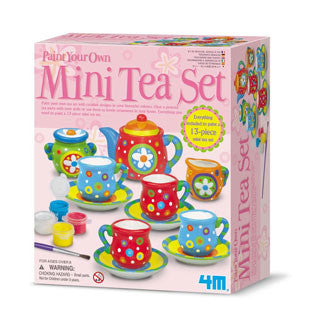 Paint Your Own Mini Tea Set - 4M - eBeanstalk