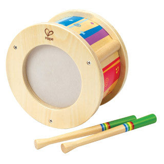 Early Melodies Wooden Drum - Hape - eBeanstalk