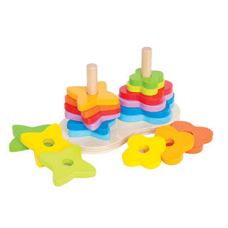 Double Rainbow Stacker - Hape - eBeanstalk