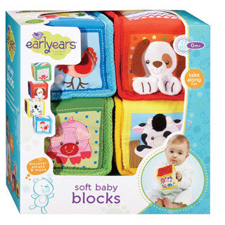 Soft Baby Blocks - Earlyears - eBeanstalk