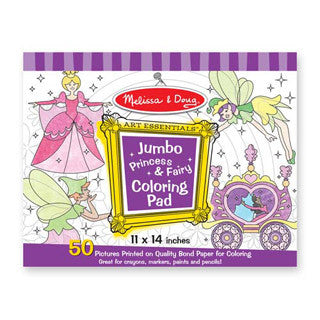 Fairy Princess Coloring Pad - Melissa and Doug - eBeanstalk
