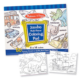 Jumbo Coloring Pad Blue - Melissa and Doug - eBeanstalk