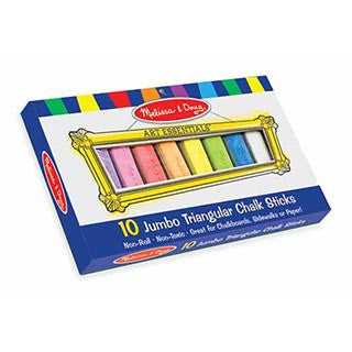 10 Jumbo Triangular Chalk Set - eBeanstalk
