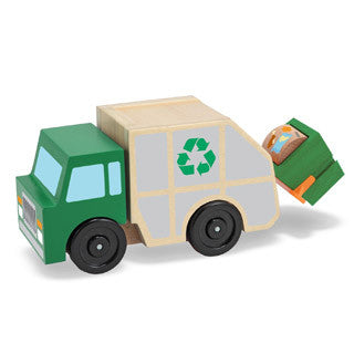 Wooden Garbage Truck - Melissa and Doug - eBeanstalk