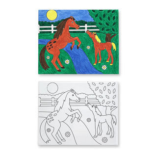 Canvas Creations - HORSES - Melissa and Doug - eBeanstalk