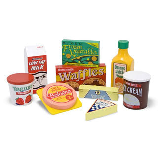 Wooden Fridge Food Set - Melissa and Doug - eBeanstalk