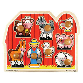 Large Farm Jumbo Knob Puzzle - Melissa and Doug - eBeanstalk