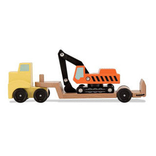 Wooden Trailer & Excavator - Melissa and Doug - eBeanstalk