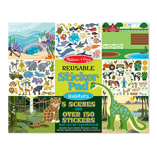 Reuseable Sticker Pad - HABITATS - Melissa and Doug - eBeanstalk