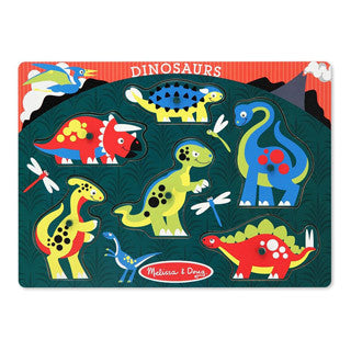Dinosaur Peg Puzzle - Melissa and Doug - eBeanstalk