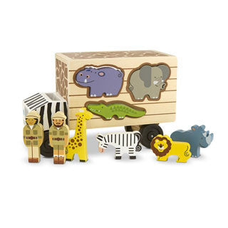 Animal Rescue Shape Sorting Truck - Melissa and Doug - eBeanstalk
