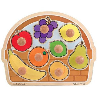 Fruit Basket Jumbo Knob Puzzle - Melissa and Doug - eBeanstalk