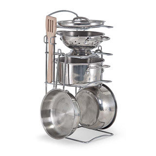 Stainless Steel Pots & Pans Sest - Melissa and Doug - eBeanstalk