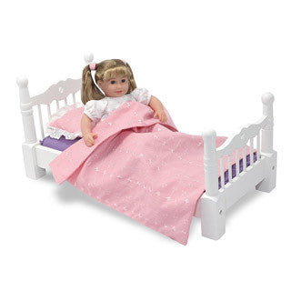Wooden Doll Bed - Melissa and Doug - eBeanstalk