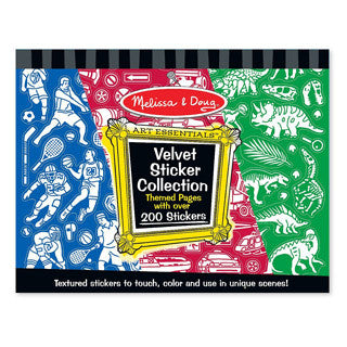 Melissa & Doug Velvet Sticker Collection Blue - Melissa and Doug - eBeanstalk