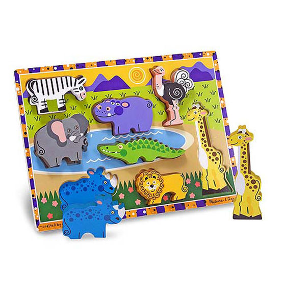 Wooden Chunky Puzzle Safari Animals