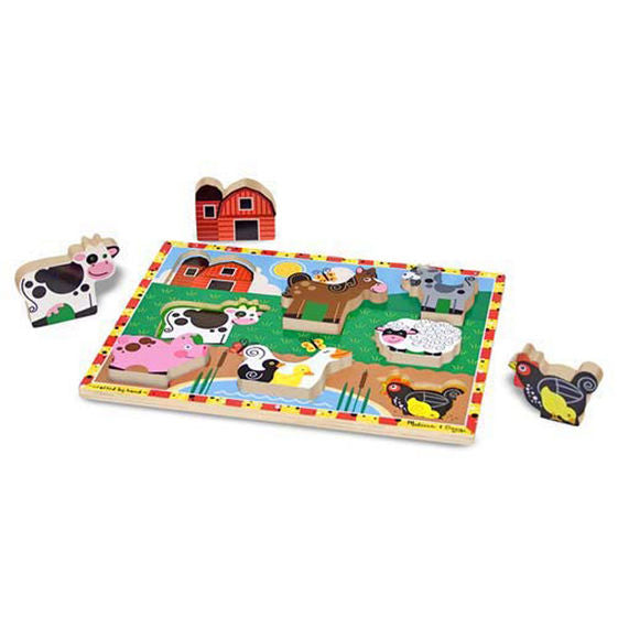 Wooden Chunky Puzzle Farm Animals