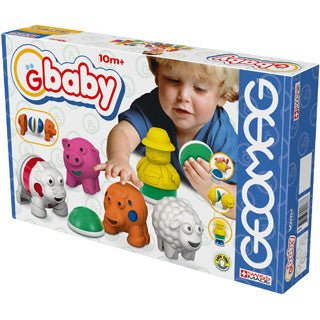 Gbaby Baby Farm - 19 Pieces - Geomag-Gbaby - eBeanstalk