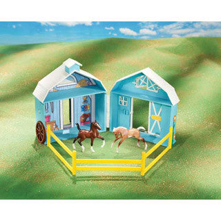 Frolicking Foals Pocket Barn - Breyer - eBeanstalk