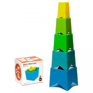 Cool Colors Nest & Stack Cups - Kid O - eBeanstalk