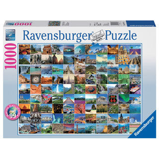 99 Beautiful Places on Earth 1000 Jigsaw Puzzle - eBeanstalk