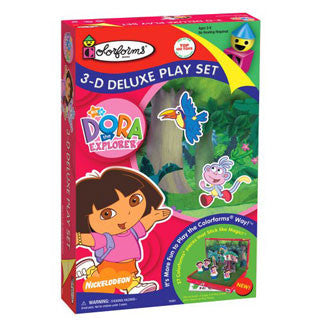 Dora The Explorer 3-D Deluxe Play Set - University Games - eBeanstalk