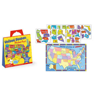 United States Map Stickers - Peaceable Kingdom Press - eBeanstalk