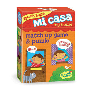 Mi Casa Match Up Game & Puzzle - Peaceable Kingdom Press - eBeanstalk