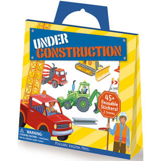 Under Construction Stickers - Peaceable Kingdom Press - eBeanstalk