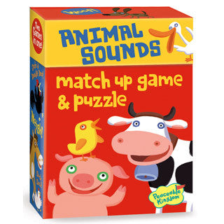 Animal Sounds Match Up Game & Puzzle - Peaceable Kingdom Press - eBeanstalk