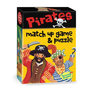 Pirate Match Up Game & Puzzle - Peaceable Kingdom Press - eBeanstalk