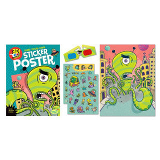 3D Stickers Alien Attack - eBeanstalk