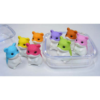 4 Hamster Erasers in a Box - eBeanstalk