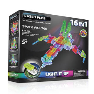 Laser Pegs Space Fighter 16 in 1 - Laser Pegs - eBeanstalk