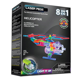 Laser Pegs 8 in 1 Helicopter Building Set - Laser Pegs - eBeanstalk