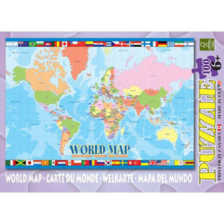 World Map Puzzle - Eurographics Puzzles - eBeanstalk