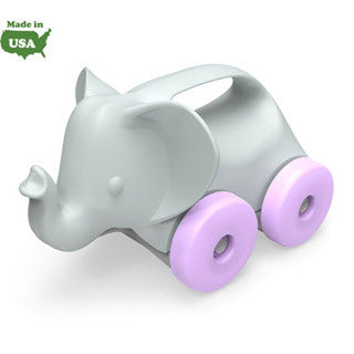 Elephant On Wheels - Grey/Purple - Green Toys - eBeanstalk