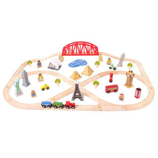 Around The World Train Set - Big Jigs Toys - eBeanstalk