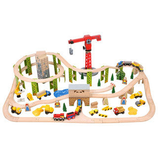 Construction Train Set - Big Jigs Toys - eBeanstalk