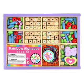 Rainbow Alphabet Bead Kit - Bead Bazaar - eBeanstalk