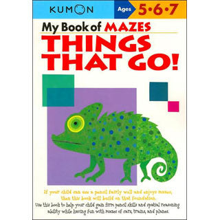 KUMON - My Book of Things That Go Mazes - Kumon - eBeanstalk