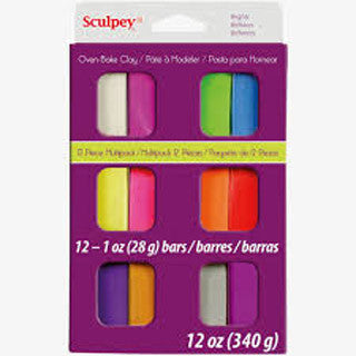 Clay Multi Packs Brights - Sculpey Clay - eBeanstalk