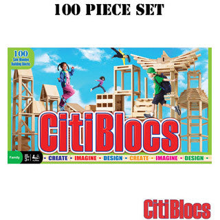 Citiblocs 100 pc Wooden Building Blocks - Citi Blocs - eBeanstalk