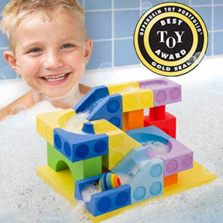 Bath Blocks - 21 pc Ball Run Set - Just Think Toys - eBeanstalk
