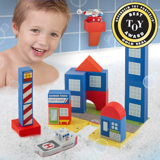 Bath Blocks - 20 pc Coast Guard Set - Just Think Toys - eBeanstalk