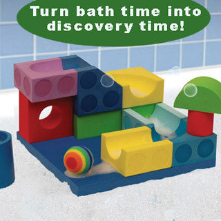 Bath Blocks - 13 pc Ball Run Set - Just Think Toys - eBeanstalk